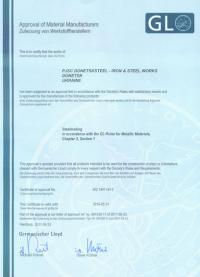 Certificate of Manufacturer's Recognition № WZ 1447 HH 2