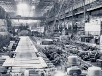 1953 view of the 2300 Plate Rolling Mill during its first rolling