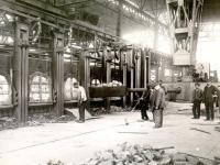 Feeding of the new Open-Hearth Furnace in 1912
